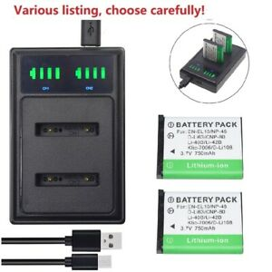 Battery or charger for Olympus Li-42B / Nikon EN-EL10/ Pentax D-LI63/Casio NP-80