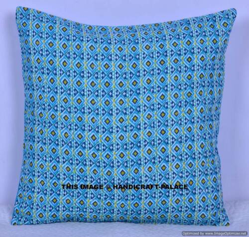 Indian Designer Cotton Kantha Embroidered Cushion Cover pillow Case Handmade 16/""