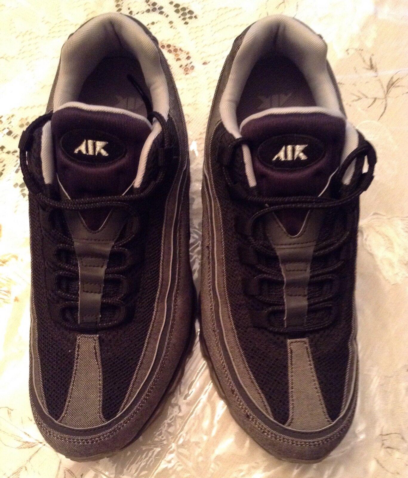 Air Max 24 7 Negro metalico plata denim zapatillas casual 10,5 hombres salvajes 10,5 casual 39c249
