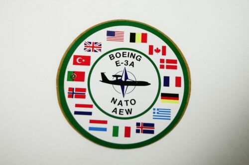 Vtg Boeing E-3A NATO AEW Toolbox Sticker