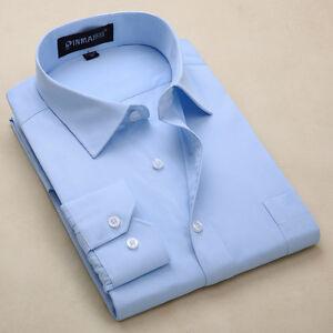 New-Men-039-s-Formal-Business-Luxury-Stylish-Long-sleeve-Casual-Slim-Dress-Shirts