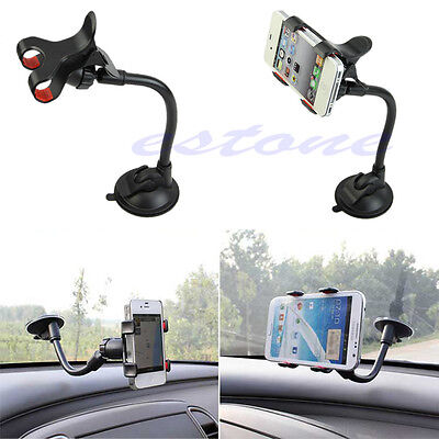 360° Rotation Car Windshield Mount Holder Bracket For iPhone Phone GPS Universal