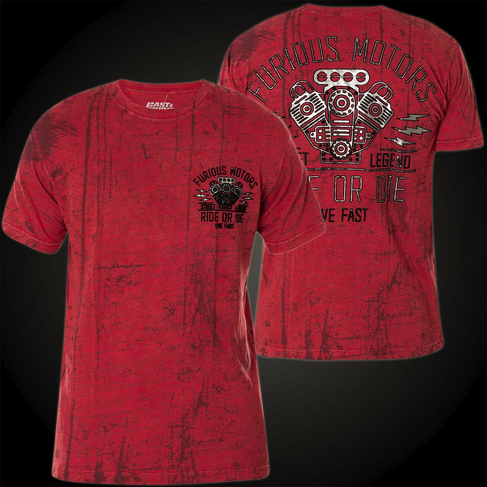 AFFLICTION Fast & Furious T-Shirt Street Legend red T-Shirts