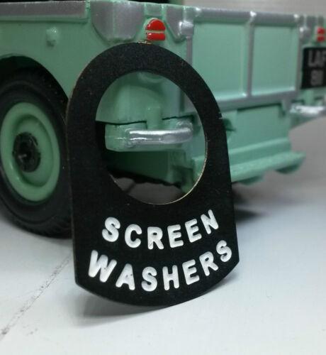 Austin Healey Frogeye Bugeye Sprite Switch Tab Badge Windscreen Screen Washers
