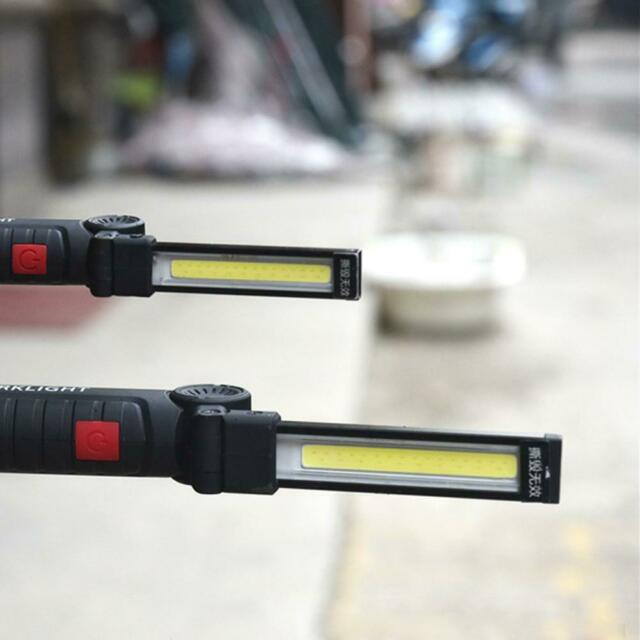 Magnetic LED USB COB Work Light Car Garage Mechanic Home Rechargeable Torch Lamp