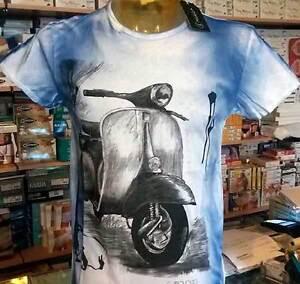 T-shirt-herren-Capovolto-aus-baumwolle-geflammt-a-schneiden-leben-mit-druck