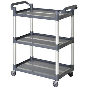 HOMCOM-3-Tier-Metal-Trolley-Serving-Cart-Free-Moving-Kitchen-Livingroom