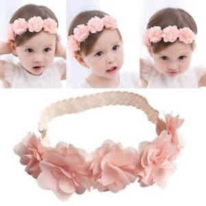 Kids Baby Girl Toddler Lace Flower Headband Hair Band Headwear Accessories New