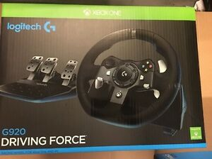 Logitech G920 Uk Plug Driving Force Racing Wheel For Xbox One And