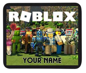 Personalised Custom Name Roblox Gaming Mouse Mat Pad Pc Laptop Ebay