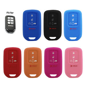 Durable 5-Buttons Silicone Key Fob Cover Case Shell For Honda Accord Civic Pilot