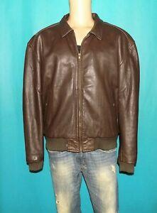 veste blouson vintage LEVI'S en cuir de vachette marron  taille XL
