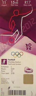 London 2012 Responsible Ticket Olympic 11/8/2012 Men's Fussball Final Brasil Vs Mexico # R17 Wide Selection;