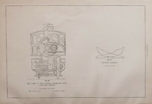 1886-RAILWAY-LOCOMOTIVE-PRINT-FAST-EXPRESS-WOOTTEN-039-S-FIREBOX-END-VIEW-INDICATOR
