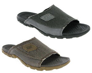 0340a09ed5a3 Details about Caterpillar Ginza Slide Soft Comfort Slip On Canvas Sandals  Mens UK6-11