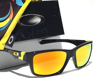 82a8fc635d6 NEW  Oakley Jupiter Squared Black VR46 w FIRE Iridium Lens Sunglass ...