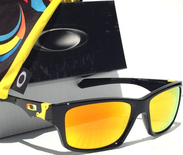 e02a23bfa9 Oakley Jupiter Squared Oo9135-11 Black Vr46 W  Fire Iridium Lens Sunglasses