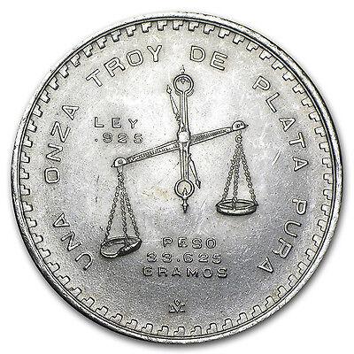 1 oz Silver Mexican Onza Balance Scale Coin - Random Year - AU/BU - SKU #9558