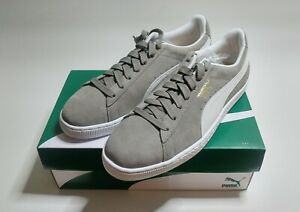 new style a4214 4dadb Details about Puma Suede Classic 352634-66 • Steeple Gray / White • Men's  Size 13 • BRAND NEW