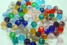 Wholesale DIY 30pcs Faceted Round jewelry exquisite luster Crystals 6mm Beads f2
