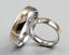 Anello-Anelli-Coppia-Fedi-Fede-Fedine-Fidanzamento-Nuziali-Cristallo-Oro-Fascia miniatura 2
