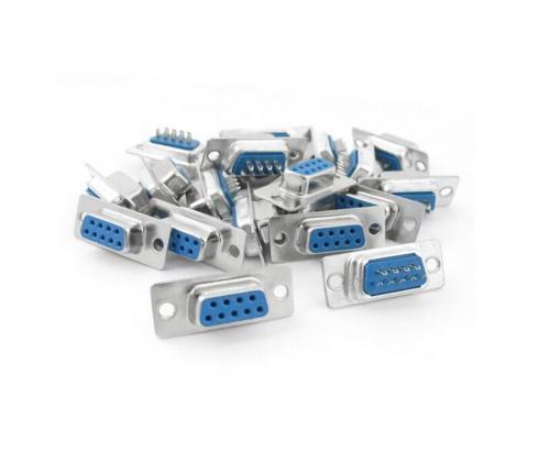 10pcs D-SUB 9 Pin DB9 Female Solder Type Socket Connector TYUK