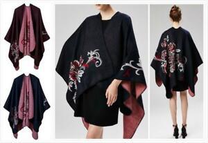 Women's Coats, Jackets & Waistcoats AU SELLER Blanket Poncho Reversible Cloak Cape Coat Warm Wrap SCARF/SHAWL sc075