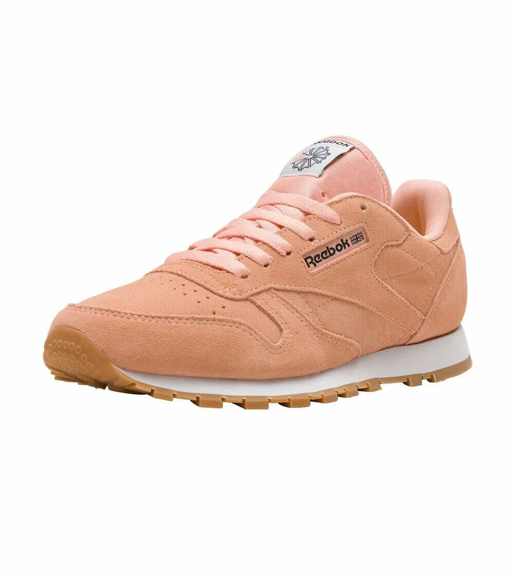 Kids Reebok Classic Leather BS9328 GS Junior Girls Pastel Medium Pink