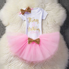 Kristins Great Finds Exclusive 2nd Birthday Girls Party 2 Felt Crown Hat Headband Tulle Tutu Skirt Pink and Gold