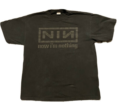 vintage nine inch nails shirt Now Im Nothing XL Bl