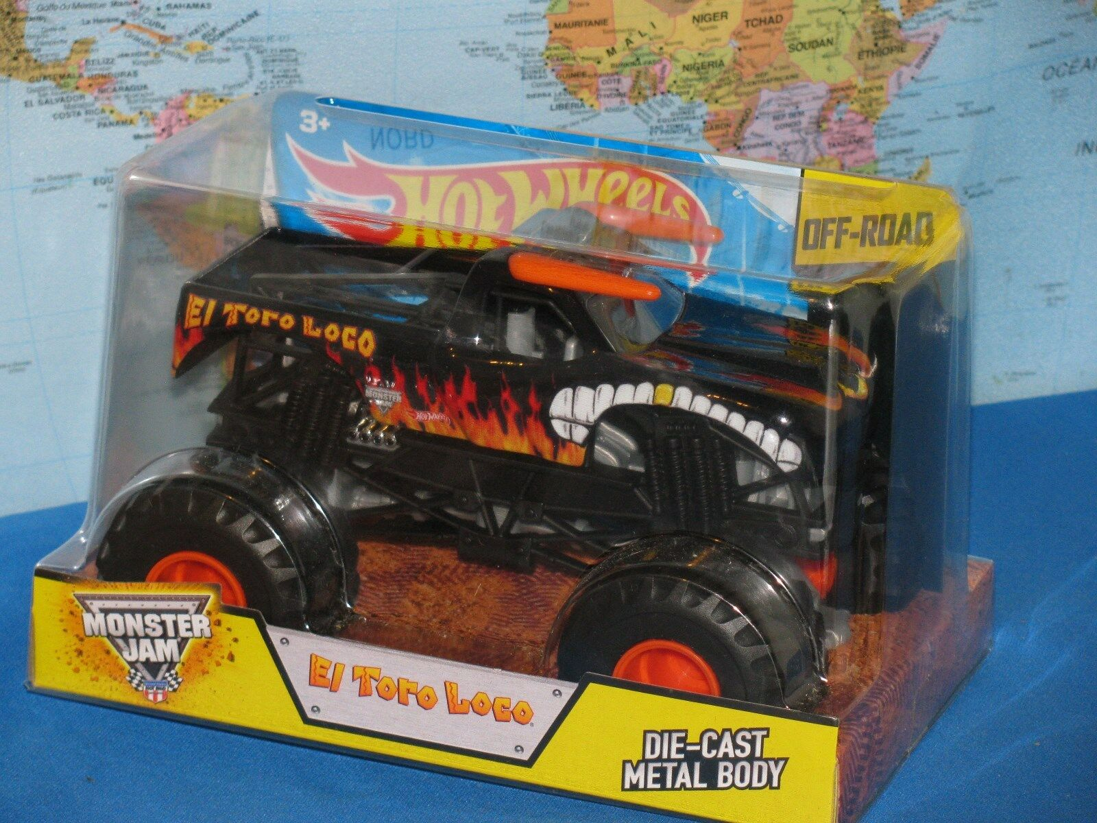 1 24 Hot Wtalons Confiture de  Monstre Camion El Tor Loco Noir  100% garantie de prix