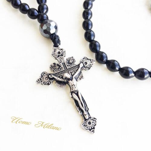 m Rosary Design italia fitness rn14 Rosenkranz KETTE kreuz Halskette JESUS dg