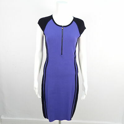 Marc Cain Damen Kleid Lila Schwarz Muster Gr N 2 De 36 Dress Stretch Ebay