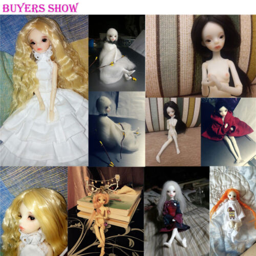 BJD 1//8 19.5cm Mini Doll Little Girl Unpainted Bare Doll without Any Make Up