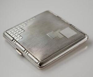 BEAU zigarettendose avec couvercle- alpaga- 8x8 cm. (Z10) BiWLLU6R-09101929-112650154