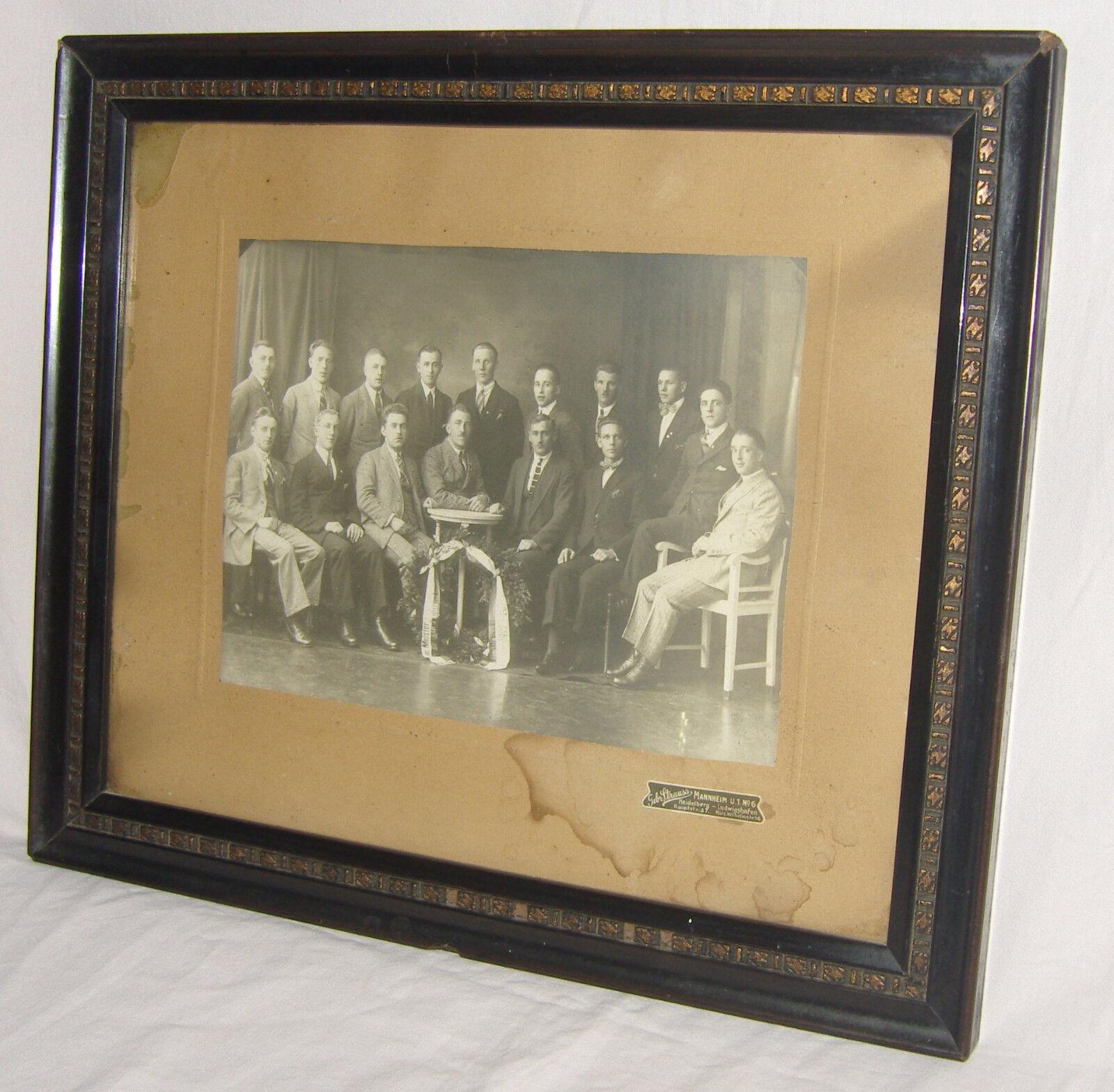 Gera. Foto einer MANNHEIMER FUSSBALL- ELF, 1922-26, 1. 1. 1. FC WALDHOF Teil 2 (C) 7db854