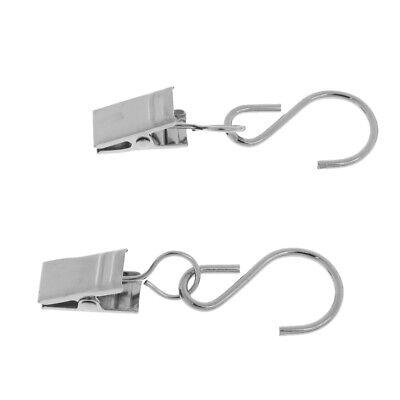 dauerhaft /& staubdicht 50x S-Form Gardinenhäkchen Gardinenring mit Klammer
