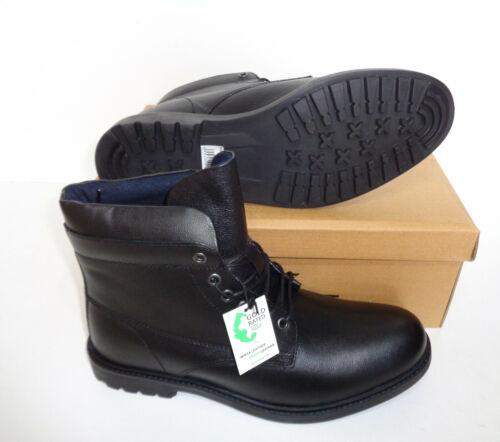 Homme Noir en Cuir Véritable Bottes à Lacets Red Tape Chaussures New UK Tailles 7-12