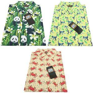 Run-amp-Fly-Mens-Kitsch-Animal-Print-Short-Sleeve-Shirt