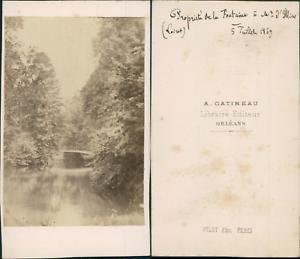 Gatineau-France-Loiret-Vintage-CDV-albumen-carte-de-visite-CDV-tirage-al