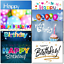 thumbnail 6 - Doodlecards Pack of 10 Standard Size Contempory Mixed Birthday Cards
