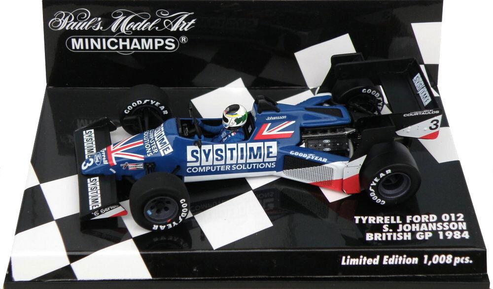 Centro comercial profesional integrado en línea. Minichamps Minichamps Minichamps Tyrrell Ford 012 British GP 1984-Stefan Johansson escala 1 43  tienda en linea