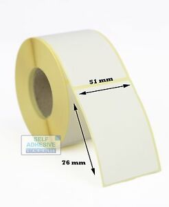 1,000 WHITE STICKERS 16MM X 10MM  BLANK EASY PEEL SELF ADHESIVE LABELS