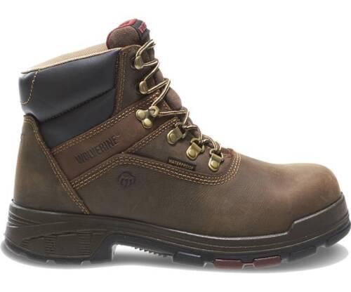 """Men/'s Wolverine Boot 6/"""" Comp Toe Waterproof Dark Coffee W10314 NIB"""