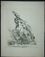 A. PAUL WEBER, Original Lithographie 1956, signiert, Auf's andere Pferd