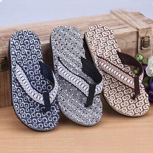 herren casual hausschuhe summer beach flachen flip flops sandalen schuhe ebay. Black Bedroom Furniture Sets. Home Design Ideas