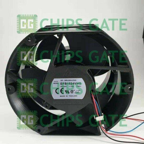 1PCS New DELTA EFB1524VHG Fan 24V 1.70A 3wire 15175CM F0P93 Fast Ship