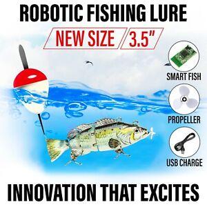 "NEW 3.5"" Electric Live bait, Robotic Fishing Lure - Swimming Wobbler - Bass Bait"