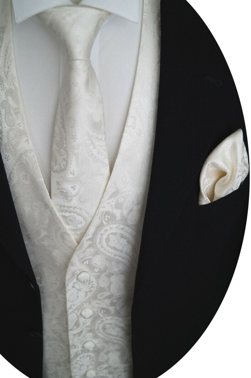 Wedding Waistcoat With Plastron, Handkerchief And Tie 4-tlg. Model No. 20.3