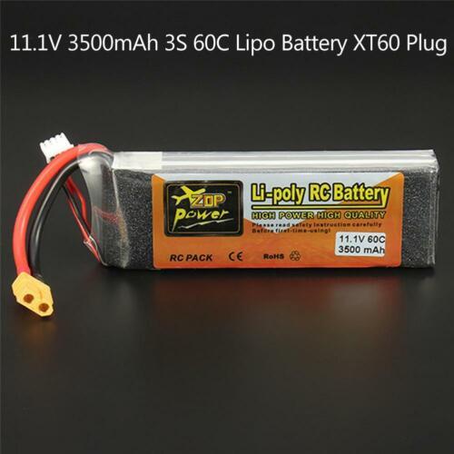 ZOP Power 11.1V 3500mAh 60C 3S 1P Lipo Battery XT60 Plug for RC Drone Car CY